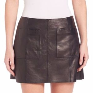 Joie Women's Black Leather Skirt Size 6 $498
